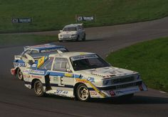 Ollie Arnersson at Lydden hill, leading the Escort Xtrac of John Welch, and Terjie Schie in the ex Seppo Nikkimakki Escort Xtrac John Welch, Drake, Audi Sport, Ford Escort, Vintage Race Car, Rally Car, Driving Test, Le Mans, Audi Quattro