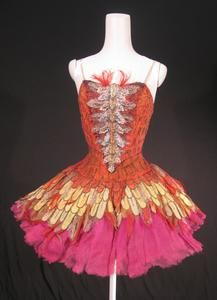 Tutu worn by Margot Fonteyn as The Firebird in the Sadler's Wells Ballet production of 'The Firebird' (1954)