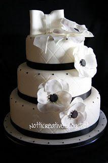 torta bianca e nera