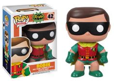 "Funko 1966 ROBIN BOY WONDER DC HEROES 3.75"" POP VINYL FIGURE MINT"