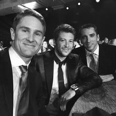 Ryan Hunter Reay, Marco Andretti, & Justin Wilson at the Indy500 awards dinner