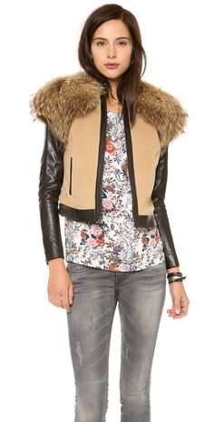 info @ashleesloves.com #ONEby #Fur #Trim #Jacket #women's #fall #fashion #style