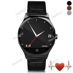 RWATCH R11 MTK2501 Infrared Remote Controller Heart Rate Monitor Bluetooth 4.0 Snyc Dialer SMS Pedometer Smart Watch E-472183