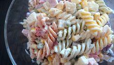 Sałatka makaronowa – Smaki na talerzu Pasta Salad, Ethnic Recipes, Food, Pineapple, Crab Pasta Salad, Essen, Meals, Yemek, Eten