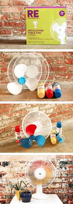 New favorite: Give your table fan a color boost with this quick #DIY project!