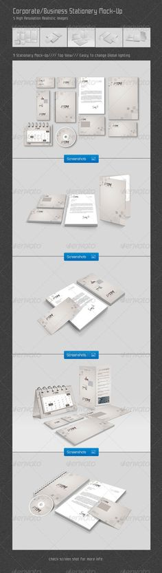 Corporate/Business Stationery Mock-Up