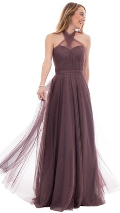 For the bride who seeks versatility, this convertible bridesmaid dress delivers. Made of soft, flowing tulle this convertible dress provides endless options for a customized look! This versatile style offers 10+ ways to wear thanks to three long tulle sashes that twist, tie and shape for a customized look on your special day. There's also detachable shoulder straps to create your perfect bohemian look! Shop trendy, affordable, designer quality wedding dresses by Revelry - under $150. Try on…