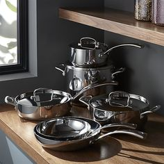 Cuisinart ® French Classic Stainless Steel 10-Piece Cookware Set | Crate and Barrel