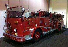 Vintage fire truck...Los Angeles County Fire Department 36 #oldschool #FD