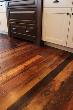 Weathered Antique Pine - traditional - wood flooring - denver - Mountain Lumber Company