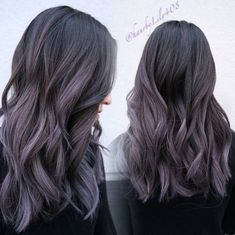 Black to purple ombre hair styles and. Purple Balayage, Balayage Ombré, Ombré Hair, Dye My Hair, Pastel Hair, Purple Hair, Black To Purple Ombre, Boliage Hair, Lush