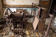 Abandoned press on North Brother Island