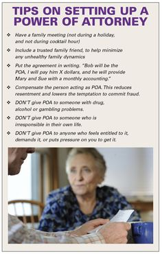 Tips on setting up a Power of Attorney