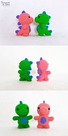 Crochet Pattern - Baby Dinosaur - Amigurumi