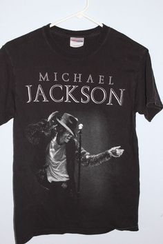 Michael Jackson T Shirt , Tee Shirt Black Adult Size Small Concert Photo Singer #Hanes #TeeShirt