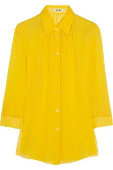 Acne Studios Adeline silk-chiffon shirt | THE OUTNET
