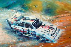 pikes peak by Klaus Wagger Anime Comics, Speed Art, Audi Sport, Car Drawings, Automotive Art, Car Painting, Rally Car, Red Bull, Car Wallpapers
