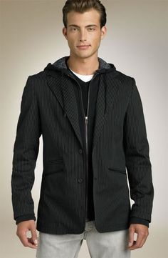 What to Wear if You Are Skinny Hooded Blazer, Skinny People, Slim Waist, Fashion Advice, Jeans, What To Wear, Men Sweater, Hoodies, Sweatshirts