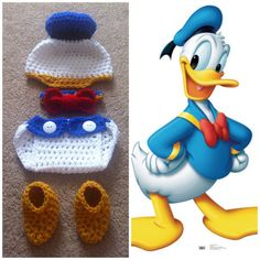 Crochet Donald Duck Outfit by Potterfreakg on Etsy @sweetlavender4