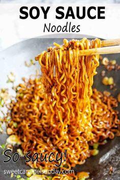 Yummy Pasta Recipes, Side Dish Recipes, Easy Dinner Recipes, Easy Meals, Sunday Recipes, Delicious Recipes, Easy Recipes, Vegetarian Recipes, Asian Noodle Recipes