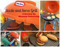 "PLAY, LEARN AND ""COOK"" WITH THE LITTLE TIKES SIZZLE AND SERVE GRILL a toy review by Mommy University at www.mommyuniversitynj.com"