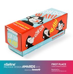 The Dieline Package Design Awards 2013: Confectionary, Snacks, & Desserts, 1st Place - OOH OOH AH AH!
