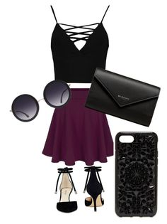 """Date night"" by rfavire on Polyvore featuring Boohoo, Nine West, Balenciaga, Alice + Olivia and Felony Case"