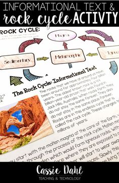 Teach your students all about the Rock Cycle with this informational text and Rock Cycle activity! 5th Grade Classroom, 2nd Grade Teacher, My Teacher, Rock Cycle, 5th Grade Science, Stem Challenges, Classroom Activities, The Rock, Dahl