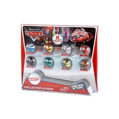 #Cars fans will have mega fun with these Micro Drifters vehicles, featuring the coolest metallic finishes! Inspired by the hit DisneyPixar movies, the collectible, small-scale vehicles have a unique ball-bearing design, which lets them race, drift, and swarm.