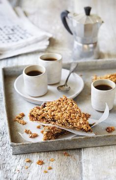 Cereal date flapjacks recipe from Breakfast: Morning, Noon & Night by Fern Green   Cooked