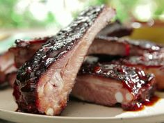 BBQ Ribs with Root Beer BBQ Sauce Recipe : Bobby Flay : Food Network - FoodNetwork.com