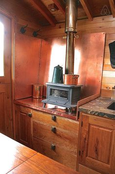 Wood stove (and space heater) for cold evenings - Get $25 credit with Airbnb if you sign up with this link http://www.airbnb.com/c/groberts22