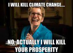 Wynne on Climate Change #onpoli