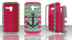 Amazon.com: Motorola Moto X Hybrid (Hard Plastic + Silicon Gel) Defender Impact Case Cover Snap-On Anchor Turquoise Chevron Waves Tribal / H...
