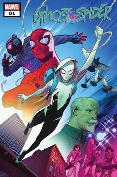 Ghost-Spider (Cover art by Jorge Molina) Marvel Comics, Marvel Vs, Marvel Heroes, Marvel Characters, Mike Deodato, Marvel Universe, Comic Books Art, Book Art, Gwen Stacy