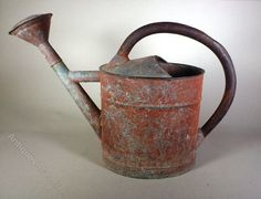 Antiques Atlas - Red Painted Watering Can