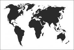 Muursticker Wereldkaart (70 x 110 cm ( niet in glitterkleuren leverbaar),Combi kleur ( alleen mogelijk in overleg!)) | MUURSTICKERS COLLECTIE | MUURSTICKERS /101WOONSTICKERS