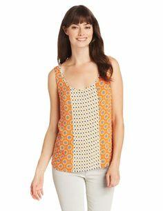 Lucky Brand Women's Caelyn Mixed Print Tank, Gold Flame Multi, Small Lucky Brand,http://www.amazon.com/dp/B00CJGDUO6/ref=cm_sw_r_pi_dp_ILTutb0ZE26TWCQ4