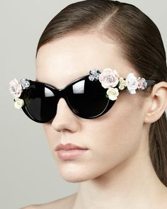 Roses Cat-Eye Sunglasses, Black by D&G at Neiman Marcus. We have some like them at our co-op at https://www.facebook.com/groups/Midwestcoop/