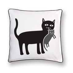 Cat and Her Kitten Pillow by Naked Decor