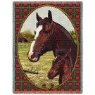 Complete your horse blanket collection with this Cheval Thoroughbred Woven Tapestry Throw. A great addition to your list of horse blankets.