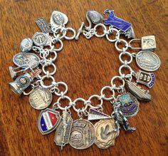 Vintage Charm Bracelet Collection - Massachusetts Vintage Charm Bracelet