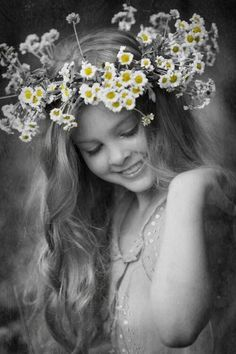 ☛All Things Color Splash☚ Color Splash, Color Pop, Colour, Daisy Love, We Are The World, Mellow Yellow, Floral Crown, Beautiful Children, Belle Photo
