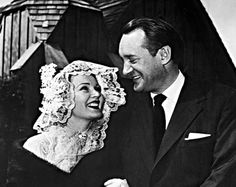 """Wedding 3 – Zsa Zsa Gabor and George Sanders, 1949 – 1954. They married at """"Little Church of the West"""" at the Hotel Last Frontier in Las Vegas."""