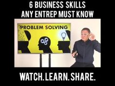 NEGOSYO TIPS: 6 BUSINESS SKILLS ANY ENTREP MUST KNOW Pinoy, Problem Solving, Online Courses, Learning, Business, Tips, Studying, Teaching, Store