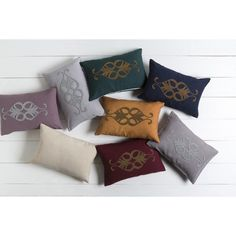 Surya Decorative Cory Poly or Down Filled Throw Pillow