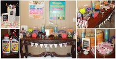Back To School Themed Party Favor Table