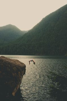 Cliff jumping | Zachary Snellenberger on Flickr, July 2014