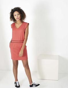 Vestido rojo cinturón I.Code