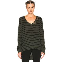 RtA Camille Sweater ($650) ❤ liked on Polyvore featuring tops, sweaters, sweaters & knits, ripped tops, ripped sweater, destroyed sweater, rta and distressed sweater